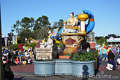 Aladdin Parade Float in Disney World Orlando Editorial Photo