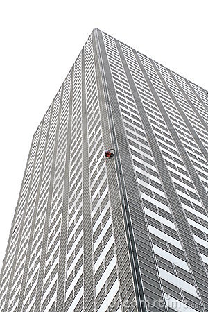 Alain Robert climbs Tower One at suntec city Editorial Photography