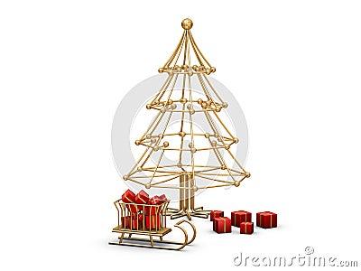 Alambre del rbol de navidad im genes de archivo libres de - Arbol de navidad de alambre ...