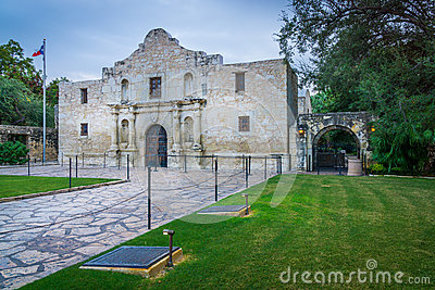 The Alamo Side Stock Photo