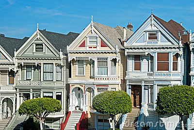 Alamo Square in San Francisco, Victorian houses