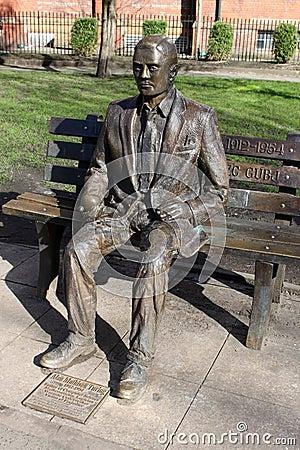 Alan Turing Statue Sackville Gardens Manchester Editorial Photography