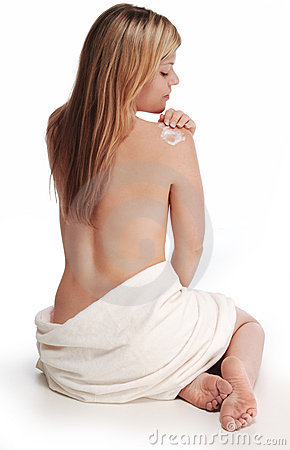 Free Alana Applying Lotion To Shoulder Stock Photos - 1139623