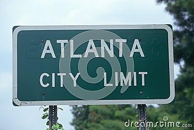 Alanta City Limit Road sign