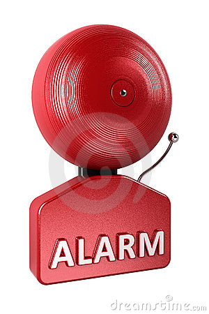 Free Alarm Bell Over White Royalty Free Stock Photos - 20573628
