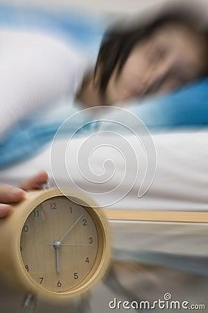 Alarm - blur on alarm