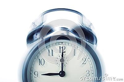 The alarm clock calls