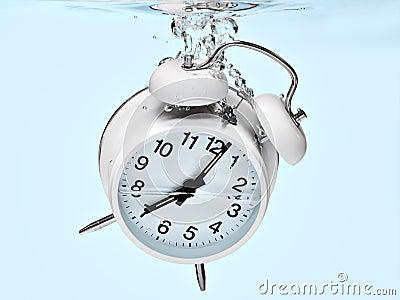 Alarm clock drowning