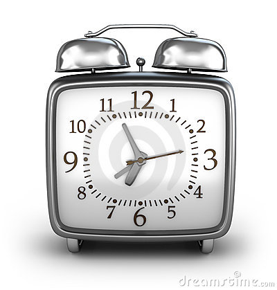 Alarm clock. Front view