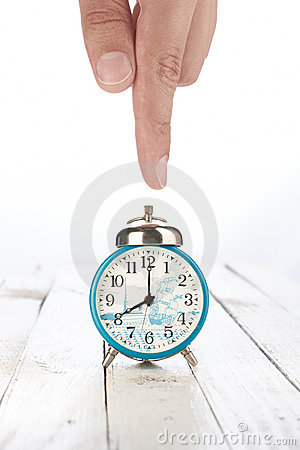 Alarm clock with hand