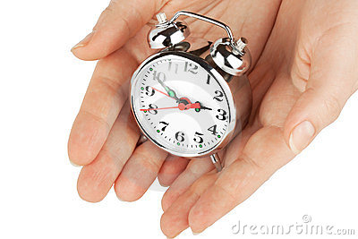 Alarm clock with hands