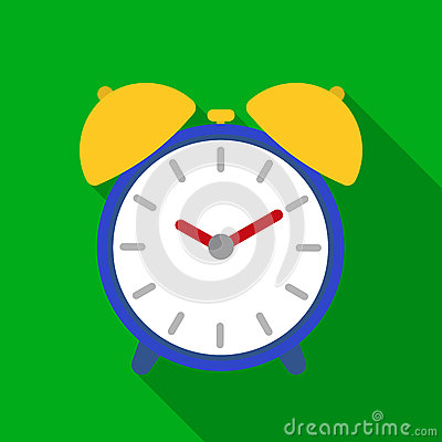 Free Alarm Clock Icon In Flat Style Isolated On White Background. Hotel Symbol Stock Vector Illustration. Royalty Free Stock Photos - 90795698