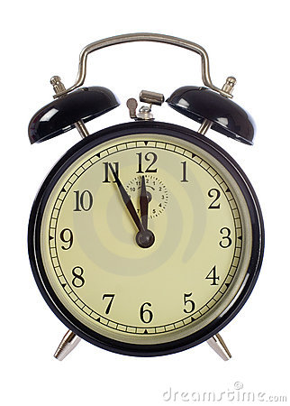 Alarm-clock isolated, 5 to 12