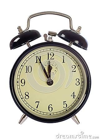 Alarm-clock isolated, 5 to 12