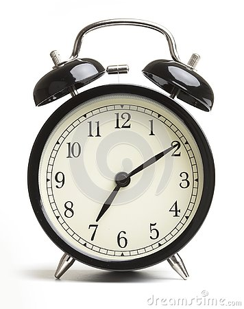 Free Alarm Clock Isolated On White Background Stock Photography - 144313882