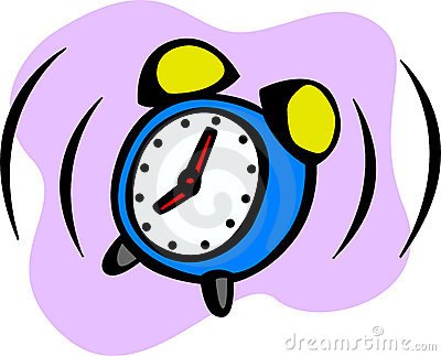 Alarm clock ringing vector illustration