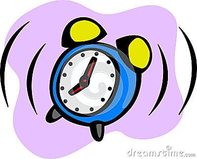 Alarm clock ringing vector illustration
