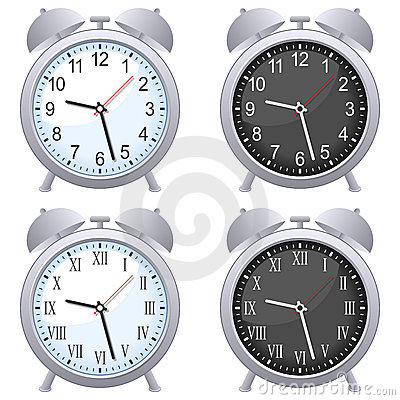 Free Alarm Clock Set Royalty Free Stock Photos - 22638118