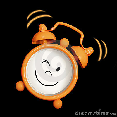 Alarm clock smiling