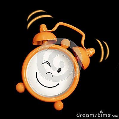 Alarm clock smiling