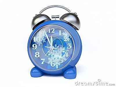 Alarm Clock With Winter Clock-Face