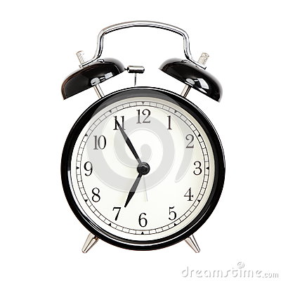 Free Alarm Clocks - Black Bell Alarm Clock Isolated Royalty Free Stock Images - 32613019