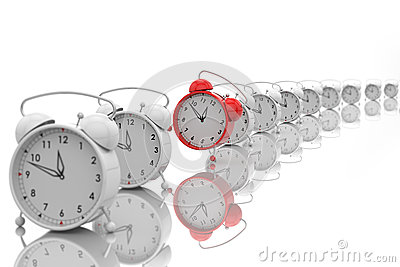 Alarm clocks with the effect of depth of field