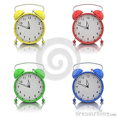 Alarm clocks set