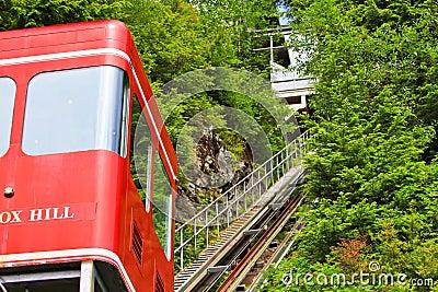 Alaska Cape Fox Hill Creek Street Funicular Editorial Stock Image