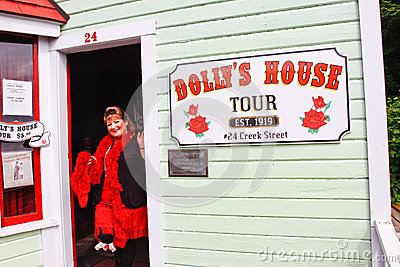 Alaska - Creek Street Dolly s House Tour Editorial Photo