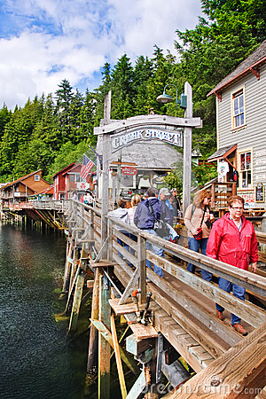 Alaska - Creek Street Entrance Ketchikan 2 Editorial Stock Photo