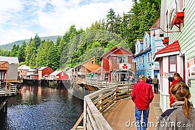 Alaska Creek Street Near Dollys House, Shopping Editorial Stock Image