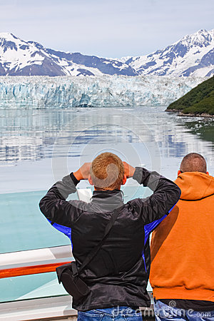 Alaska Cruise Better View of Hubbard Glacier 2 Editorial Stock Photo