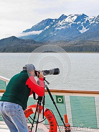 Alaska Cruise Inside Passage Photography Editorial Image