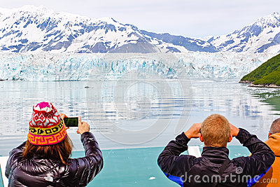 Alaska Cruise Memories at Hubbard Glacier Editorial Stock Image