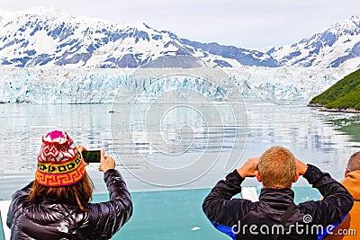 Alaska Cruise Memories at Hubbard Glacier Editorial Stock Image