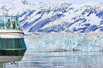 Alaska Cruise Outside with Glaciers Editorial Image