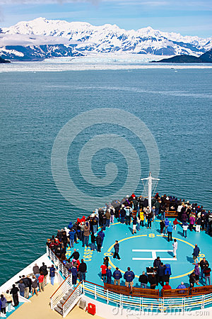 Alaska Cruise Ship Approaching Hubbard Glacier Editorial Photography