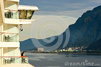 Alaska - Cruise Ship Balcony Views Juneau Editorial Image