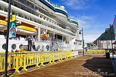 Alaska - Cruise Ship Dock Side in Juneau Editorial Image