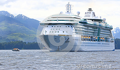 Alaska Cruise Ship Icy Straight Point Editorial Photography