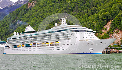 Alaska Cruise Ship Radiance of the Seas Editorial Photography