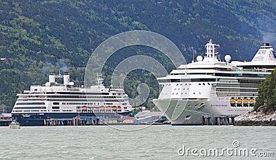Alaska Cruise Ships Radiance, Amsterdam Editorial Stock Photo