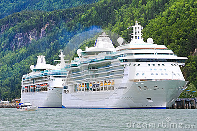 Alaska Cruise Ships Radiance and Rhapsody Editorial Photo