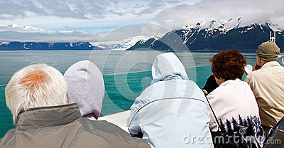 Alaska Cruise to See Glaciers Editorial Photo