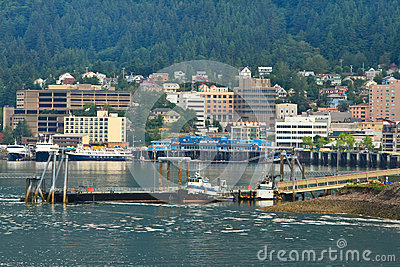 Alaska - Downtown Juneau Waterfront Editorial Stock Photo