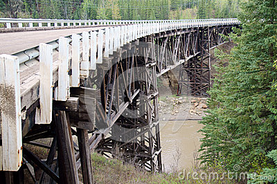 Alaska Highway Historical Wooden Bridge