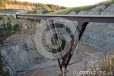 Alaska Highway Kiskatina River Steel Bridge