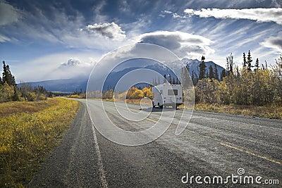 Alaska Highway near Destruction Bay