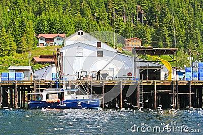 Alaska Hoonah Fish Processing Facility Editorial Image
